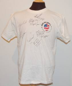 2000 USA Mens Olympic Gymnastics Team Signed T Shirt L