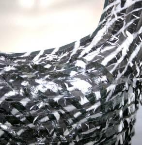John Paul Black Print Ruffle Shirt Top Womens XL