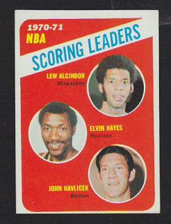 1971 72 Topps 138 Lew Alcindor Hayes John Havlicek Premium Vintage Card $12