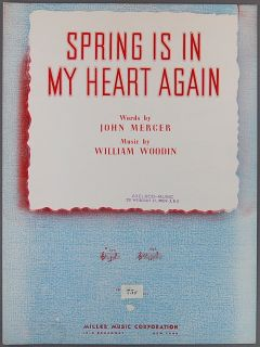 Spring Is in My Heart Again Sheet Music Mercer Woodin Piano and Vocal Song