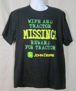 Men's John Deere T Shirt Wife Tractor Missing L