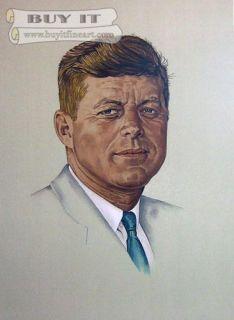 Rockwell Norman SIGNED LD ED John Kennedy NEW |