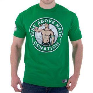 New 4 2012 John Cena Green Rise Salute Cenation T shirt Wrestling WWE Mens M