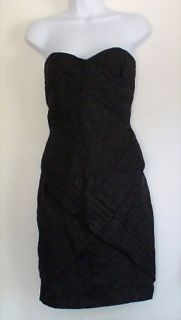 JEAN PAUL GAULTIER Target Strapless Cloque Dress Black Sz 9
