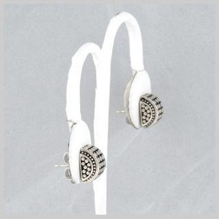 101369 JOHN HARDY Dot Sterling Silver Small Hi Way Earrings