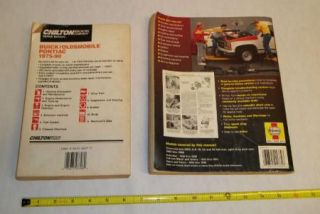 General Motors Repair Manuals Haynes Chilton Buick Olds Pont Chevrolet GMC PU