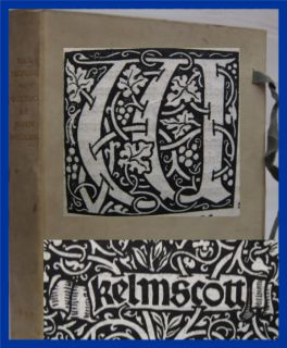 Kelmscott Press Nature of Gothic William Morris John Ruskin 1st Ed Art Nouveau