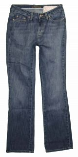 St Johns Bay Bootcut sz 6 x 33 Womens Blue Jeans Denim Pants Stretch FV08