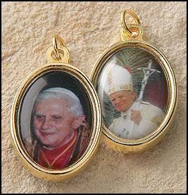 """Pope Benedict John Paul II Goldplate Medal 1"""" Italy"""