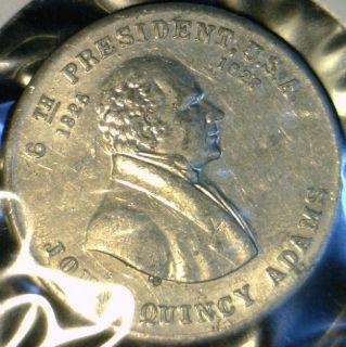 "John Quincy Adams Presedential ""The Diarist"" Commemorative Medal Token Coin"