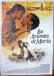 Maria's Lovers Nastassja Kinski Movie Poster Spanish 1984 John Savage