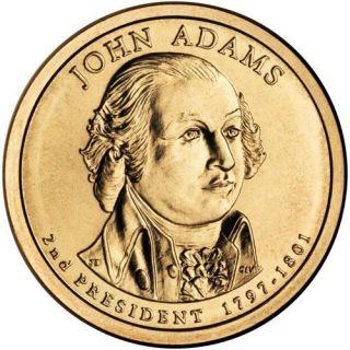 2007 D UNC BU John Adams US Presidential Dollar Coin SKU1016