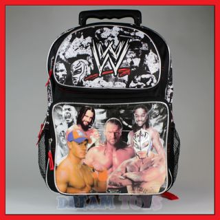 "16"" WWE Wrestling Rolling Backpack Roller Bag Wheeled"