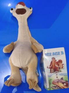 "Ice Age 3 Dawn Dinosaurs Sid Plush Cute 9"" New"