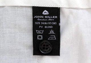 John Miller Executive Mens Gray Pleated Wool Dress Pants Slacks 34x29 Excellent