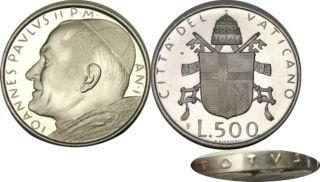 Elf Vatican City 500 Lire 1979 Silver Pope John Paul II