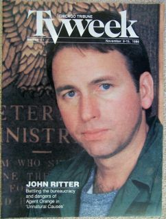 John Ritter Unnatural Causes Chicago TV Guide Nov 9 1986 Agent Orange Vietnam