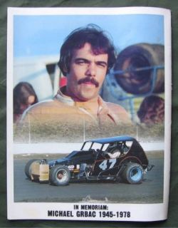 The Racer Reading Fairgrounds PA Modified Stock Car Racing 1979 Program Ticket