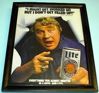 Miller Lite Beer Raiders John Madden Framed Ad Print