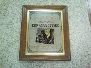 Wells Fargo Co Express Office Mirror Sign