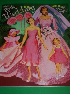 The Pink Wedding Paper Doll Book from PSP Lovely