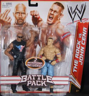 THE ROCK JOHN CENA WWE BATTLE PACKS 15 MATTEL TOY WRESTLING ACTION FIGURES