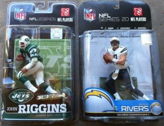 McFarlane NFL NY Jets John Riggins San Diego Chargers Philip Rivers Variants