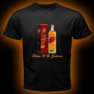 Johnnie Walker Red Black Blue Label Scotch Whisky Johnny Alcohol T Shirt s 3XL