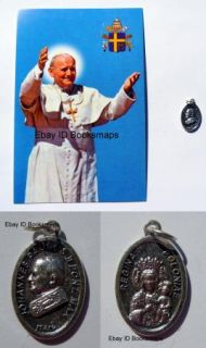 Lot of Pope John Paul II Medal Postcard Johannes Pont Max Regina Poloniae