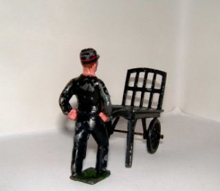 PRE WAR JOHN HILL Co FOR LIONEL 70mm RAILWAY LEAD PORTER TROLLEY