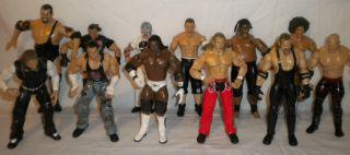 Lot of 12 WWE Wrestling Figures John Cena Kane Undertaker Hardys Big Show Booker