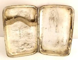 Antique Hallmarked Sterling Silver Cigarette Case 1902 John Edward Wilmot