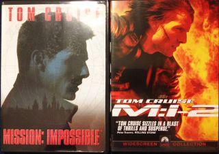 Mission Impossible 1 2 DVD Brian de Palma John Woo Tom Cruise