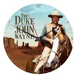 John Wayne 13 5 Cordless Wood Wall Clock New