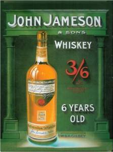 John Jameson Whiskey Vintage Style Metal Sign