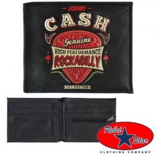 Johnny Cash Wallet Rockabilly Tattoo Cool 50s 60s Punk Retro Country Kustom Sun