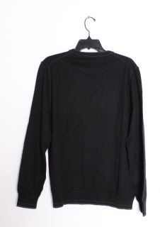 Tommy Bahama JOHNNY CASHMERE CREW NECK Long Sleeve Pull Over Sweater Black