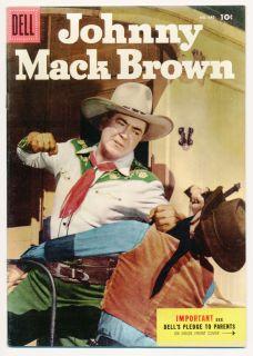 Four Color 645 VF Johnny Mack Brown Dell Comics 1955