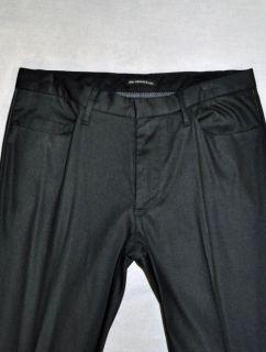 JOHN VARVATOS STAR USA Pants Leather Piping Detail Black Cotton EUC Mens 31 31