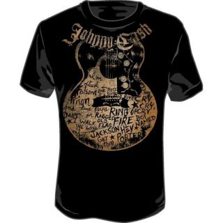 New Johnny Cash Guitar Song Titles Men Adult Soft T Shirt Tee Top s M L XL 2XL