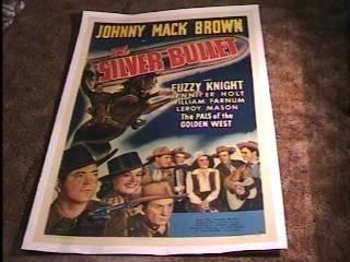Silver Bullet Movie Poster '42 Johnny Mack Brown Linen