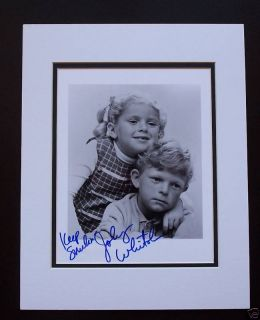 Autographed Johnny Whitaker Family Affair Matted Photo