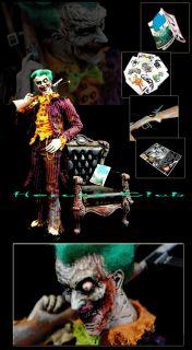 "Psycho Joker 12"" Figure 1 6 Custom Biohazard Zombie Arkham City Batman"