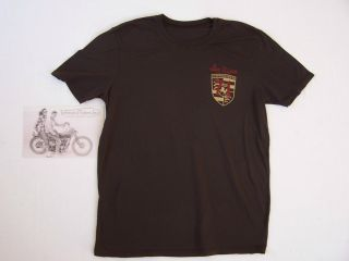 Johnson Motors McQueen Porsche 356 A Speedster t shirt Mens Small In Brown
