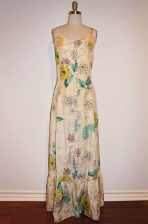 Johnny Was Collection Floral Print Maxi Dress L