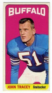 1965 Topps 43 JOHN TRACEY SP Buffalo Bills Texas A M Aggies