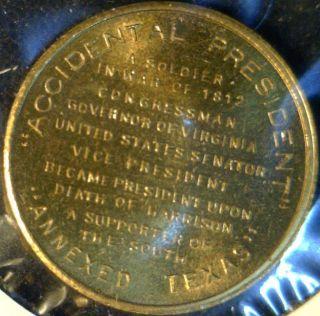 John Tyler Mint Version 2 Commemorative Bronze Medal Token Coin