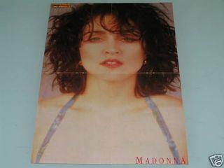 Madonna Jon Bon Jovi 1980s Pinup Magazine Poster