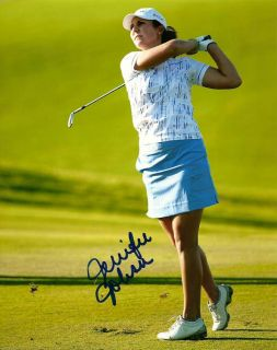JENNIFER JOHNSON SIGNED LPGA GOLF 8x10 PHOTO 1