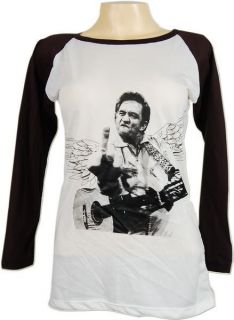Johnny Cash Finger Flip Guitar Vtg Skinny T Shirt M